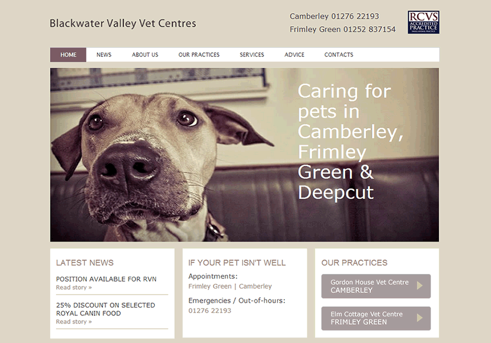 Latest work - Blackwater Valley Vets