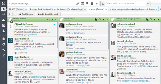 BEFORE - Hootsuite Classic theme