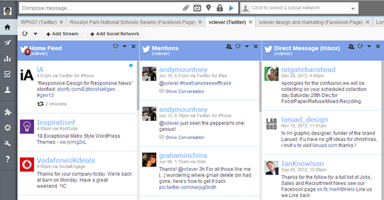 AFTER - Hootsuite redesigned